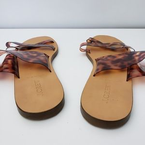 J. Crew Shoes - J. Crew Animal Print Slide Sandals Animal Print 10